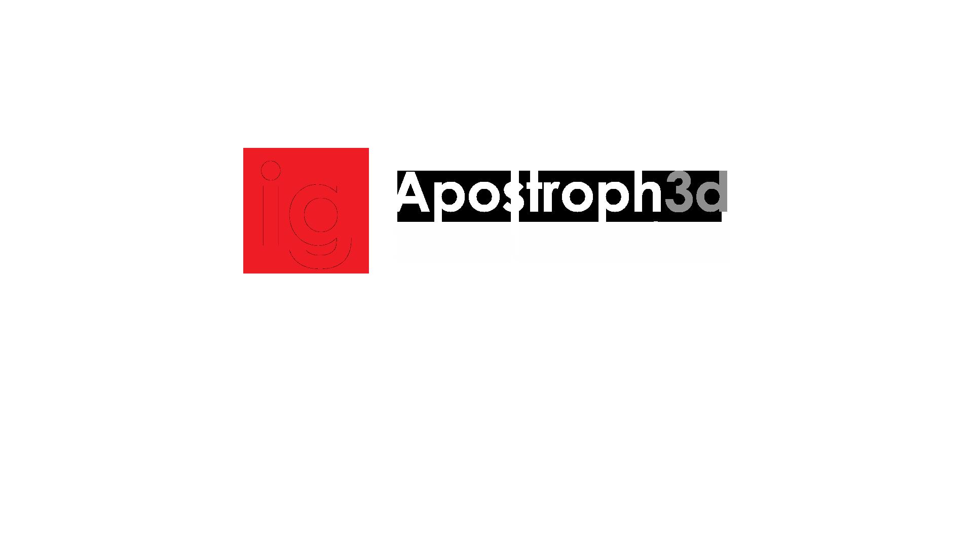 Logotype Apostroph3d Studio