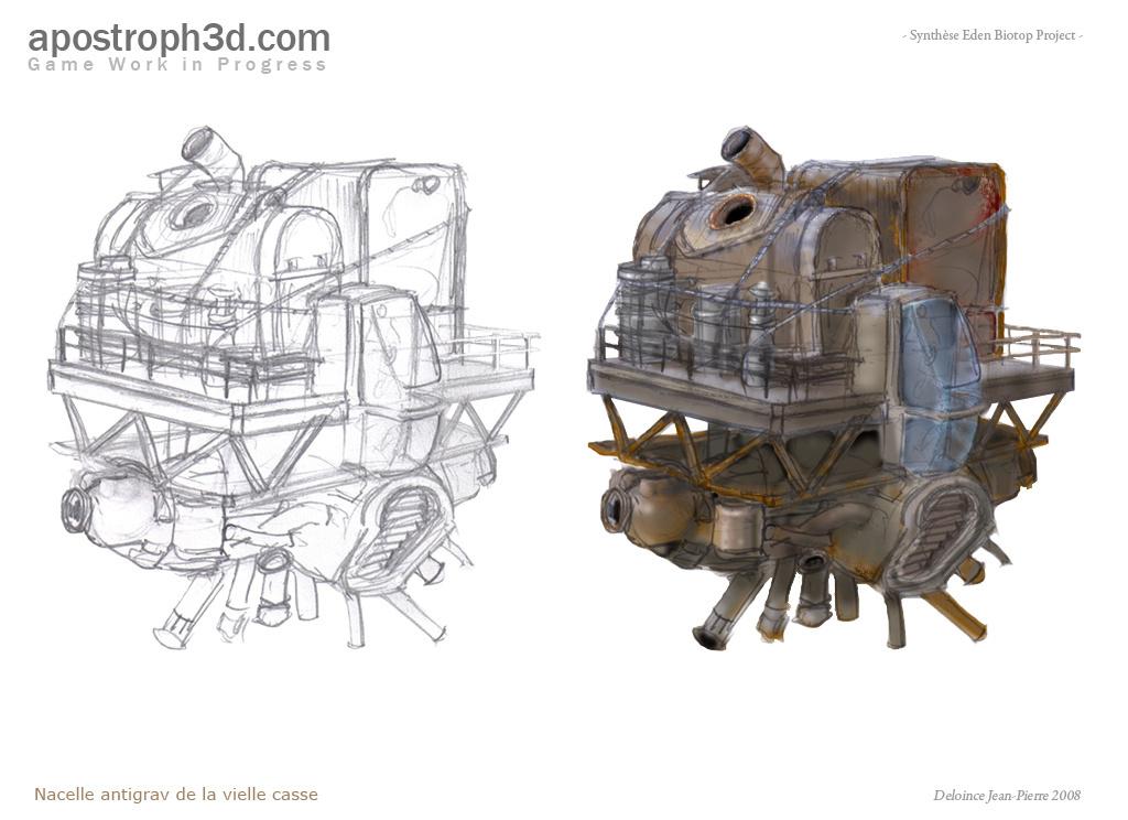 Nacelle antigrav/Cargo bric à brac de la vielle casse