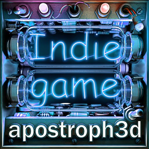 Indie game Cubic apostroph3d bluelight